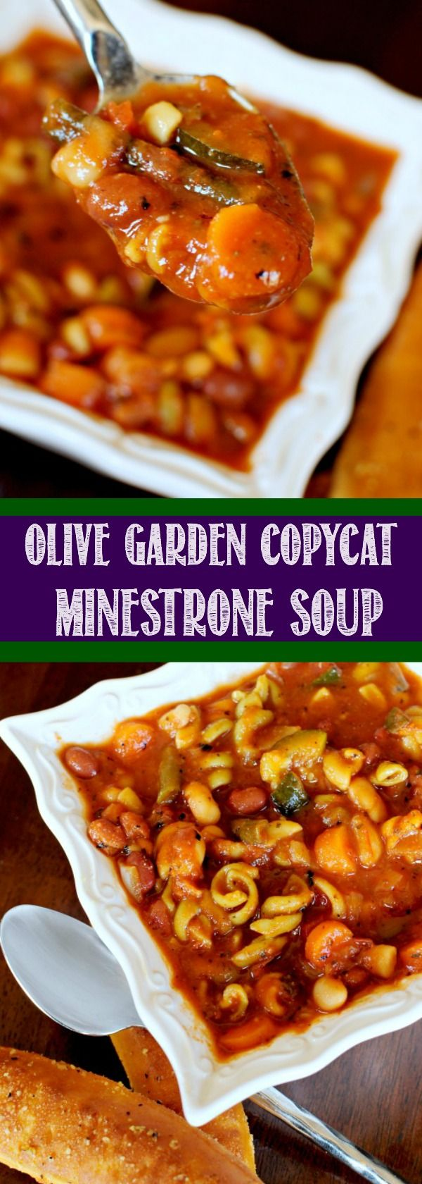 Olive Garden Minestrone Soup Copycat Recipe tastes just like the original – maybe even better! This favorite vegetarian soup is hearty, healthy, and ready in 30 minutes!