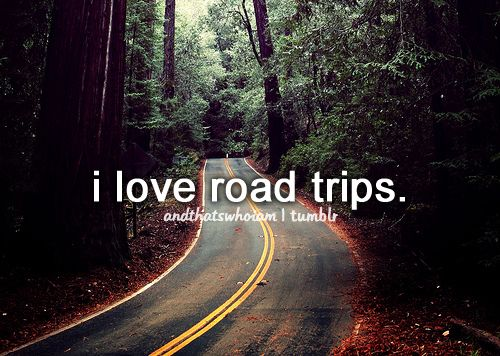 I love road trips because I hate road trips. They do so much family bonding in the movies and then my family and I go an a road trip and we don't talk to each other