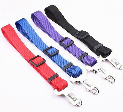 Nylon Dog Car Seat belt for Pets-Collar and Harness Attachable