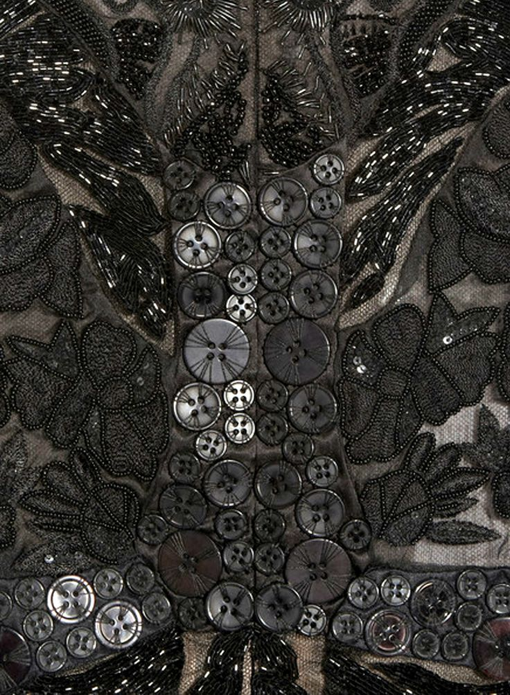 Why Couture is So Darned Expensive - just look at the detail in this gown, all the beading, embroidery and loads of carefully hand-sewn buttons.