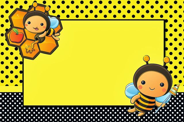 Baby Bee Party Invitations, Free Printables.