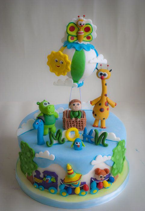 Baby Tv cake - by daroof @ CakesDecor.com - cake decorating website
