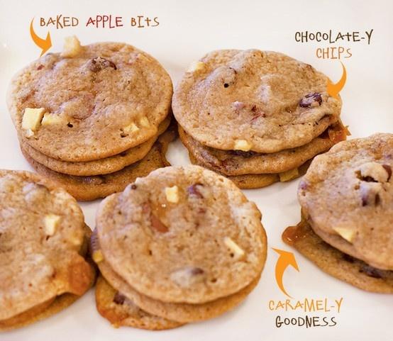 Chocolate Caramel Apple Cookies (http://www.sweettoothsweetlife.com/2010/11/03/chocolate-caramel-apple-cookies/)