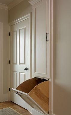 Tillman Long Interiors - Laundry Chute! I've always wanted one! Will definitely have to have one in my future house. (: