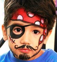 trucco carnevale bambini pirata