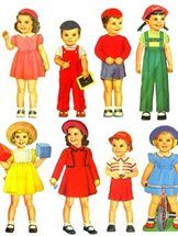 Various vintage / retro paperdolls, paper doll books and dress up dolls. Replicas and reproductions of the originals, beautiful nostalgic, including Victoria die-cut dress-up dolls - great for gifts, as a fun rainy day activity with your children or grandchildren - or just collect and keep. Found at www.whatalicefound.co.nz