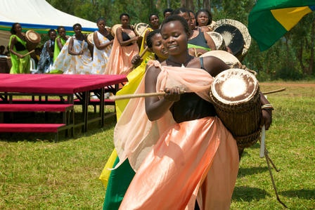 The documentary Sweet Dreams, playing at the Mead Film Festival on Saturday, December 1, is a story of firsts: the formation of the Rwanda's first and only all-female drumming troupe, Ingoma Nshya, and the group's effort to open Rwanda's first ice cream shop, in some cases introducing the treat to people who have never before tasted ice cream.