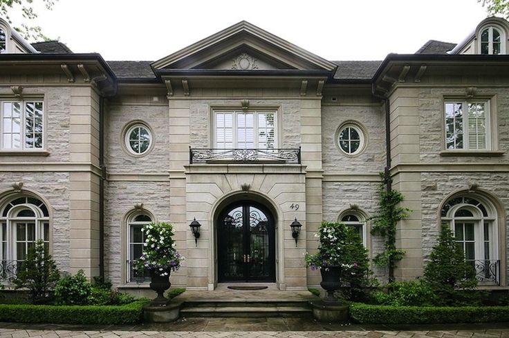 Pricey Pads - home exteriors - stone mansion,  Stone mansion