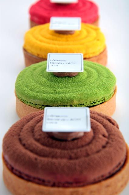 by Sadaharu Aoki in Paris - don't know what they are but I like them I can see patisserie on there so I know they're pastries of some kind - I'd certainly try one!