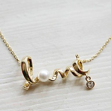 "Super cute necklace with the word ""Love"" via Freaks4fashion Online Store. Click on the image to see more!"