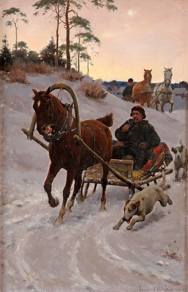 """Zygmunt Ajdukiewicz """"Sanna"""", olej na desce, 39 x 25,5 cm, własność prywatna"""
