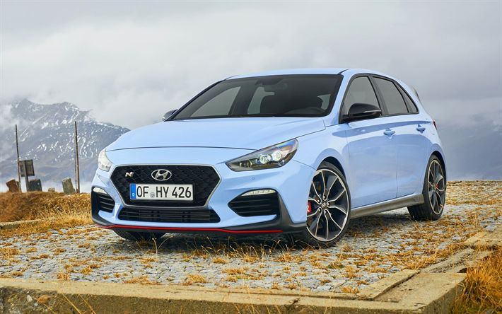 Download wallpapers Hyundai i30 N, tuning, 2018 cars, new i30, hatchbacks, korean cars, Hyundai