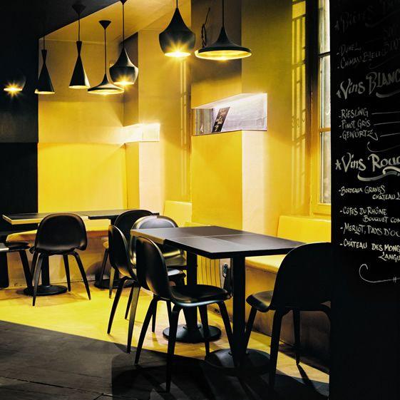 Dark Interior at Mudd Club, Strasbourg #restaurant #architecture #interiordesign