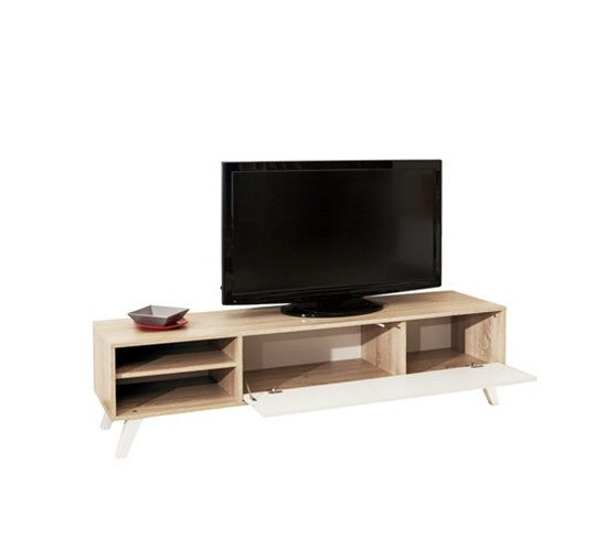 Meuble tv scandinave cosmos ch ne et blanc tvs and cosmos - Meuble cache tele ...
