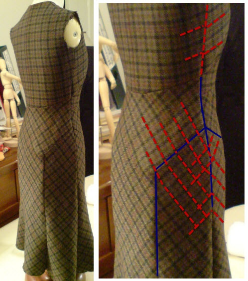 """""""Kate Rawlinson: Cutter Extraordinaire"""" - amazing pattern-matching (stripes / checks / plaids). From a post on Kathlee Fasanella's blog: http://fashion-incubator.com/archive/kate-rawlinson-cutter-extraordinaire/#"""