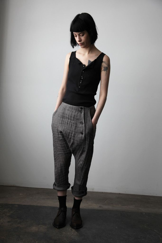 Pantalon avec boutonné Hem