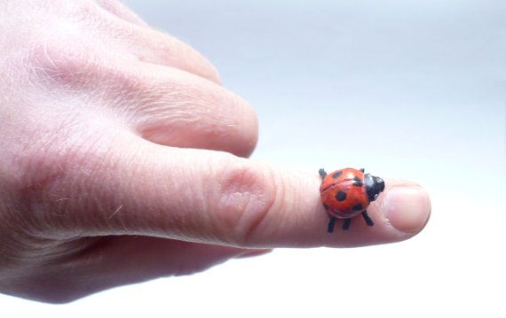 Handmede Ladybug - Ladybird sculpture - Insect Sculpture - Ladybug Art Design - Ladybug Ornament - Window Decoration - Collectible Item