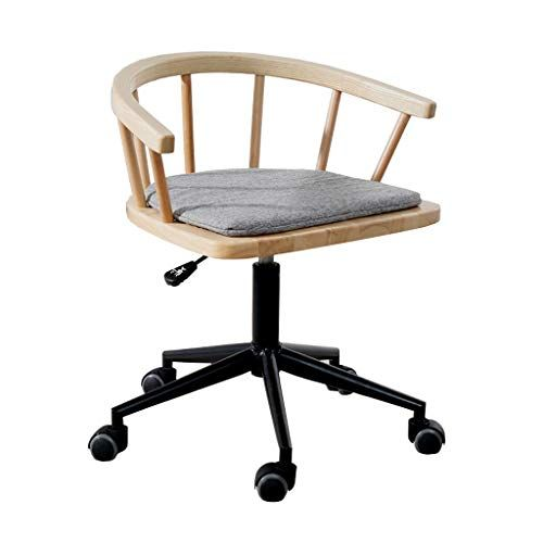 Modern Minimalist Home Computer Chair Study Armrest Nordic Wood Office Desk Swivel Color