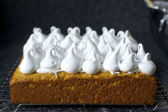 "sweet potato cake with marshmallow frosting (as seen on menu for $28 for a 4"" cake!!) Trying this."