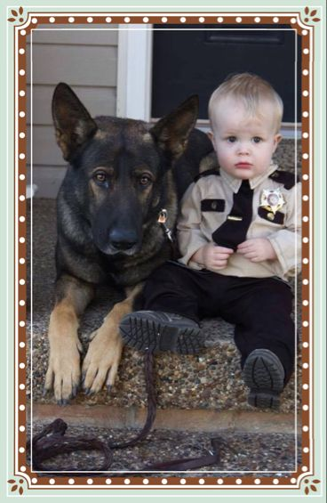 Future police officer who will have a K-9 partner.