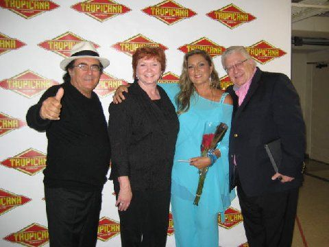 Romina Power and Al Bano Carrisi after their Atlantic City, New Jersey show with Creative and Dreams Music Network's Rose Drake and Fred Cannon. #albanorominareunited