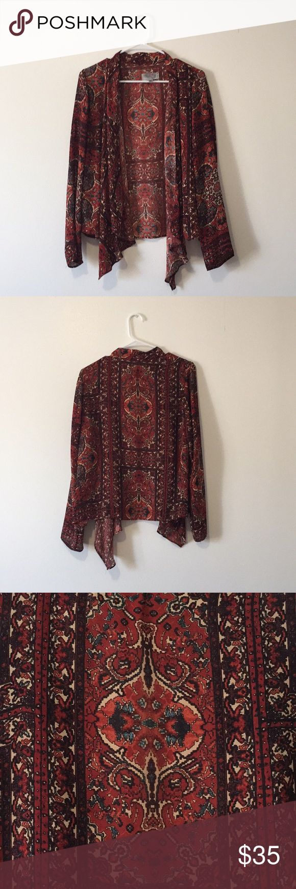 Patterned Cardigan Urban Outfitter 100% polyester patterned cardigan Urban Outfitters Sweaters Cardigans