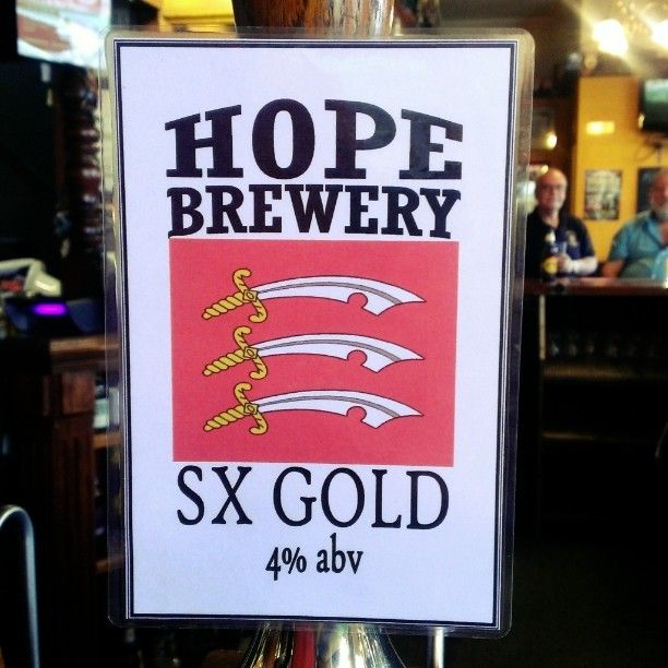 """""""From #stanfordlehope #hopebrewery is a new kid on the block to us. Loving their lighter beers. Get them at the Theobald arms and traitors gate in Thurrock…"""""""