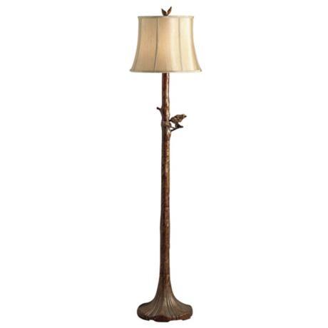 "Kichler Perched Bird Tree Floor Lamp.  14"" diameter X 59"" high.  Little corny but good size."