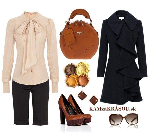 Jednoduchá elegancia do práce #kamzakrasou #sexi #love #jeans #clothes #coat #shoes #fashion #style #outfit #heels #bags #treasure #blouses #dress
