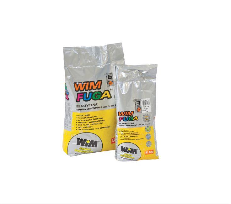 WIM FUGA ELASTYCZNA ZAPRAWA DO SPOIN  O SZEROKOŚCI OD 0 DO 15 mm  - Odporna na ścieranie, - Mrozodoporna i wodoodporna, - Do stosowania wewnątrz i na zewnątrz, - Jednolite kolory, bez plam i wykwitów, - Ag+ – antybakteryjne właściwości srebra zapobiegają powstawaniu grzybów i pleśni, - Eko Protect – zawarte w fudze srebro jest przyjazne dla środowiska, nietoksycznie i nieszkodliwe dla człowieka, - Efekt Rosy – zmniejszone wchłanianie wody przez powierzchnię fugi. #wim #wimfugi  #wimfuga