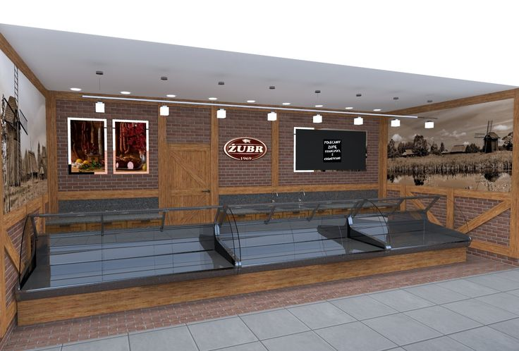 Projekt sklepu mięsnego Żubr w Kauflandzie w Poznaniu