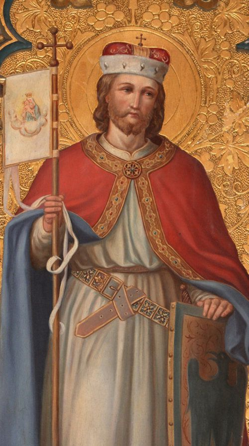 Svatý Václav (St.Wenceslas), Duke of Bohemia, posthumously declared King of Bohemia (c. 907 – September 28, 935), main patron saint of Czechia