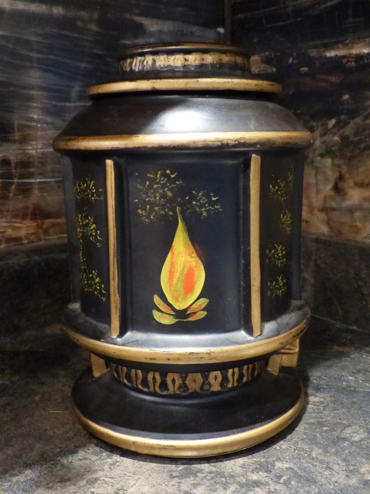 VINTAGE McCOY COOKIE Jar - McCoy Black Lantern Rare Cookie Jar / Collectible by JusFunkinAround on Etsy  $55