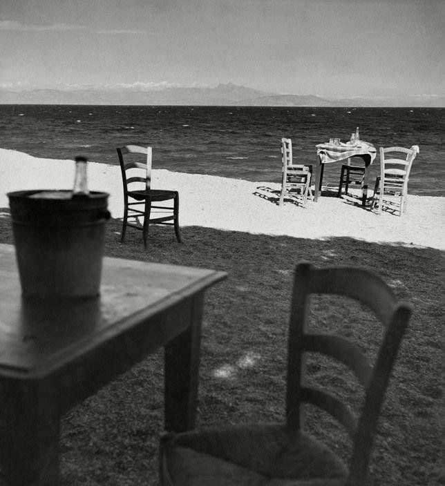 "Herbert List. Attica. Near Sounion. 1937. ""Taverna by the sea"""