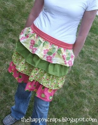 easy, adorable hand-made apron