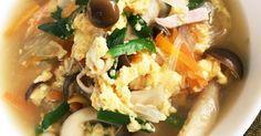 具沢山のニラ玉中華春雨スープ!これだけで十分ごはんに合うおかずスープ!しめじプリプリ!卵ふわふわ!簡単で美味しぃ〜!