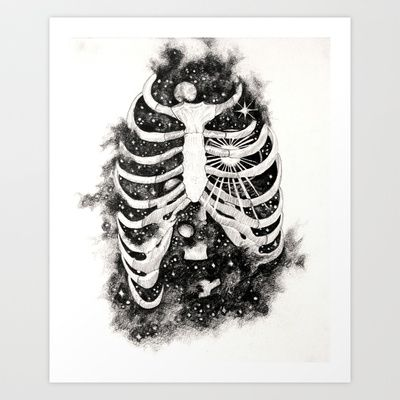 Space inbetween the ribs Art Print by Natalie Murray - $18.00