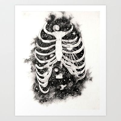 Space inbetween the ribs Art Print by Natalie Murray - $18.00