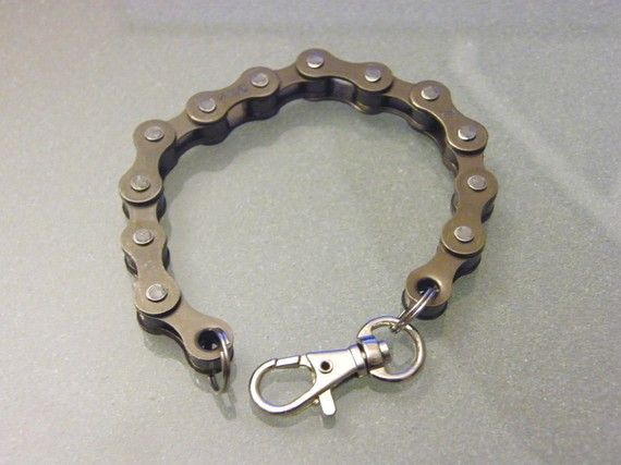 bike chain bracelet by beach bmx designs on etsy
