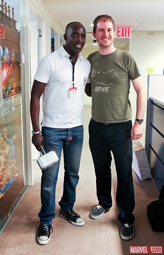 Actor Michael K. Williams Visits Marvel Comics