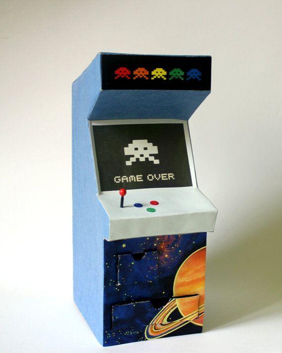 Retro Arcade Machine vintage game cabinet by popRenaissance