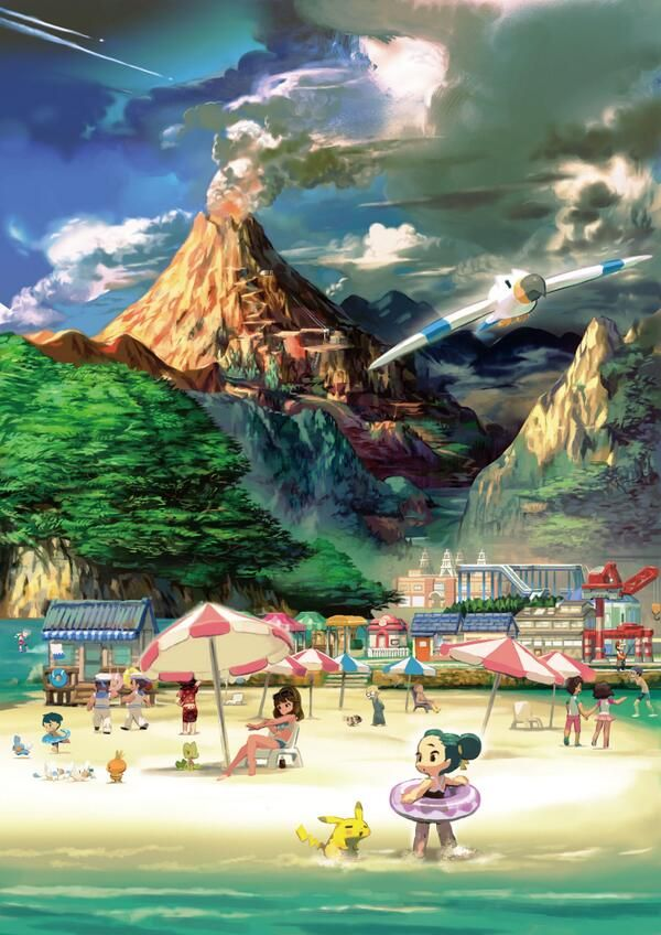 "Official ""Town"" artwork of Pokémon Omega Ruby & Alpha Sapphire"