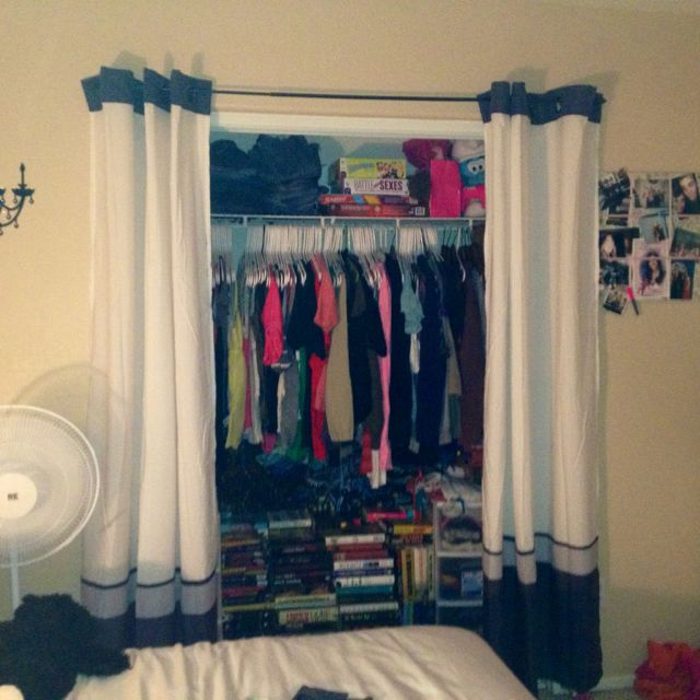 1000 ideas about closet door curtains on pinterest kids. Black Bedroom Furniture Sets. Home Design Ideas