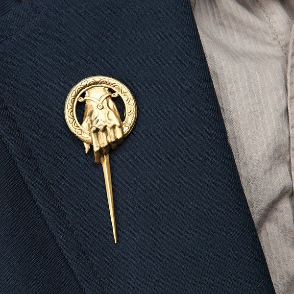 ThinkGeek :: Game of Thrones Hand of the King Pin Replica --- another boutonniere idea?