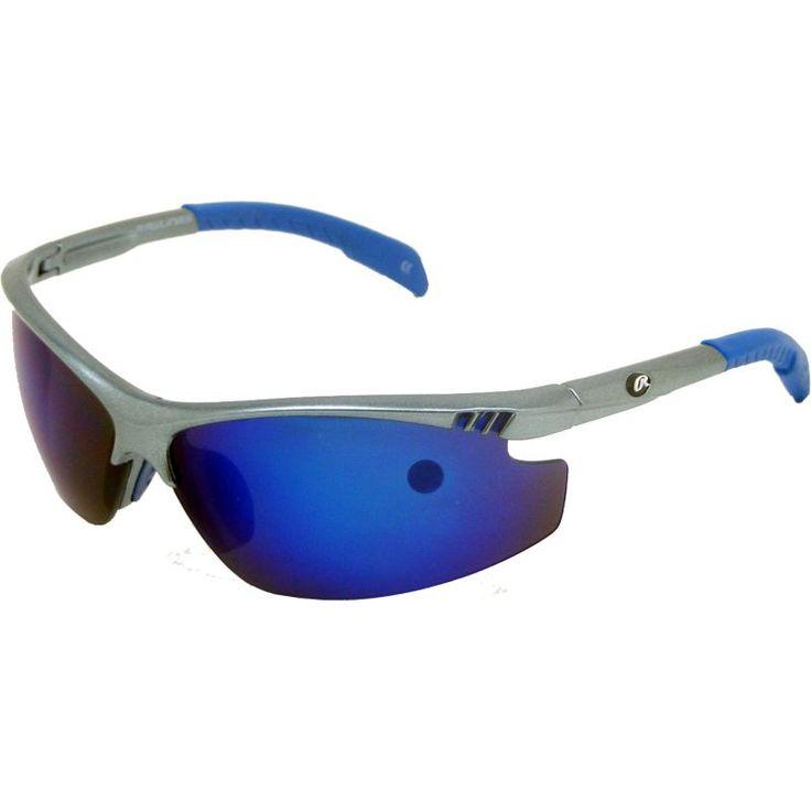 Rawlings Youth 109 Grey Blue Mirror Baseball Sunglasses