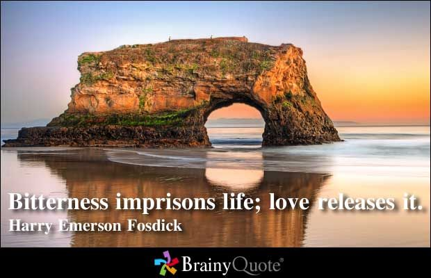 Bitterness Imprisons Life Love Releases It Harry Emerson Fos Love Quotes Pinterest Bitterness And Quote Pictures
