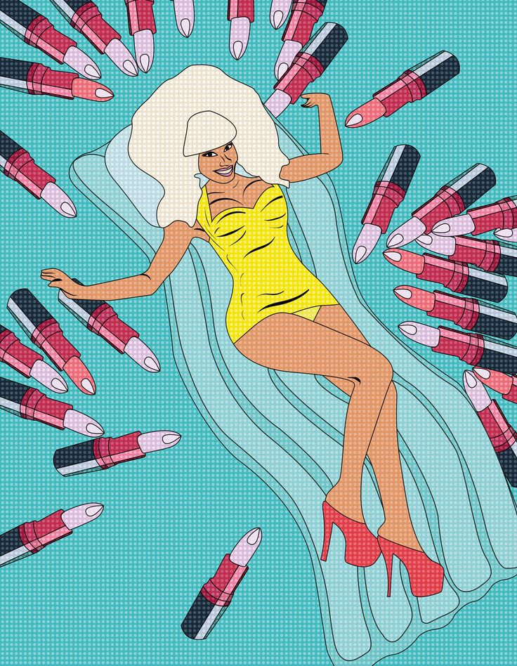 #fashion #graphics #illustration #art #illustrator #girl #popart #pop #art #design #mac #vivaglam #nicki #minaj