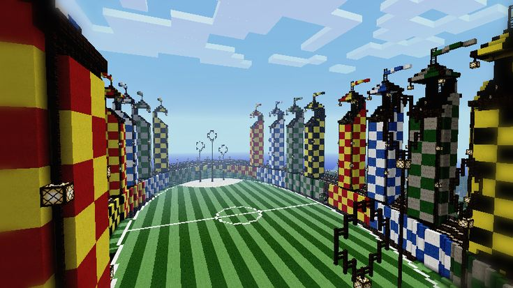 Minecraft - Quidditch Pitch by ~Ludolik on deviantART Also, Gravi' Team built this map- Awesome!