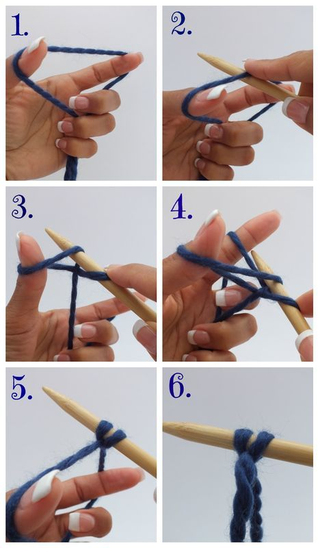 Knitting Instructions For Beginners Casting Off : How to cast on without tying a slip knot Knit ideas/instruction P?
