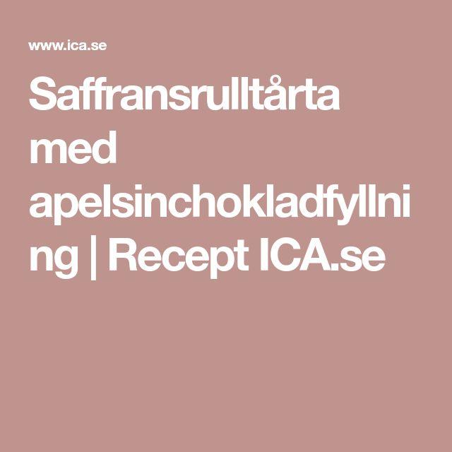 Saffransrulltårta med apelsinchokladfyllning | Recept ICA.se